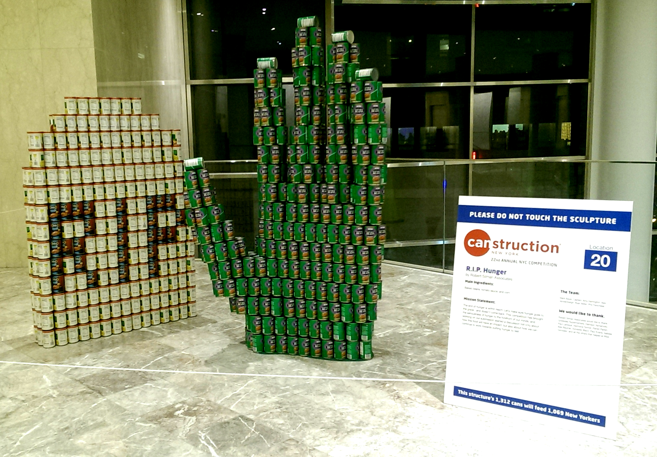 rip hunger canstruction
