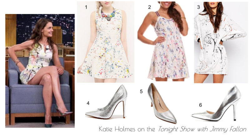 Wardrobe Wednesdays- Katie Holmes, Jimmy Fallon