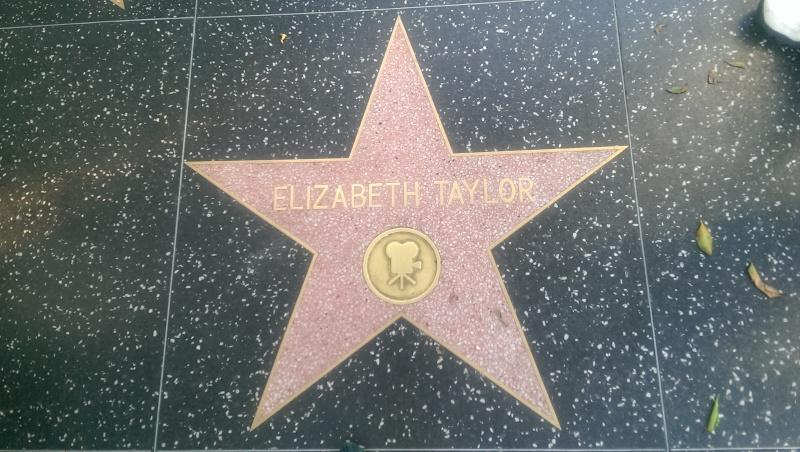 elizabeth taylor hollywood walk of fame