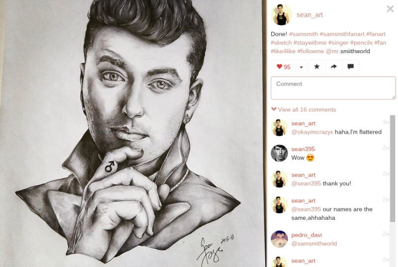 sam smith fan art