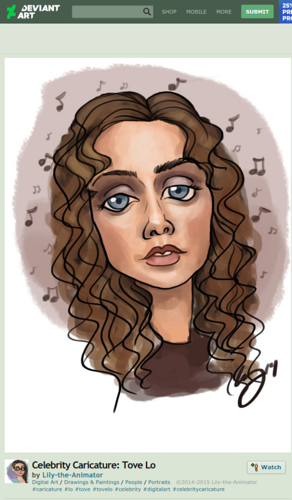 tove lo cartoon caricature