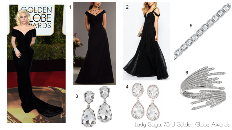 Wardrobe Wednesdays- Lady Gaga 73rd Golden Globes
