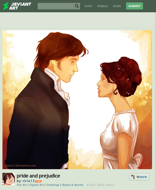 elizabeth and darcy fan art