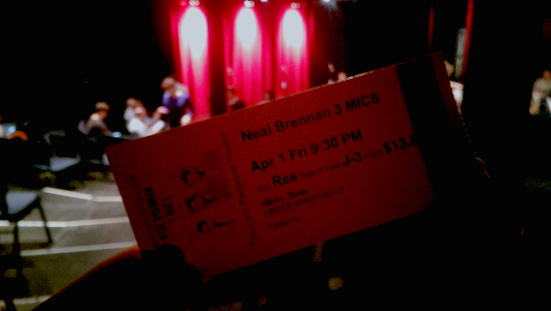 3 mics neal brennan ticket