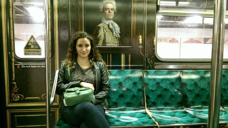 outlander starz nyc subway train