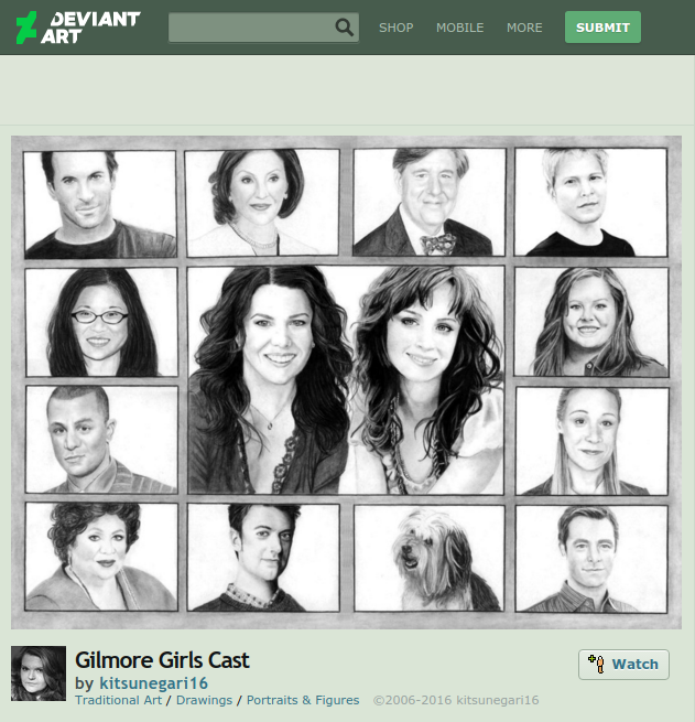 gilmore girls cast fan art