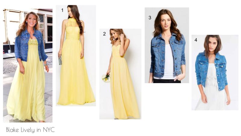 Blake Lively in NYC 2016 yellow chiffon maxi dress