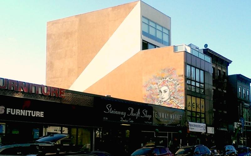 audrey hepburn steinway street art