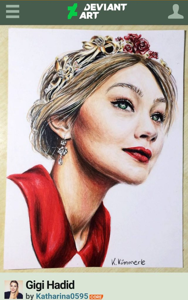 gigi hadid fan art