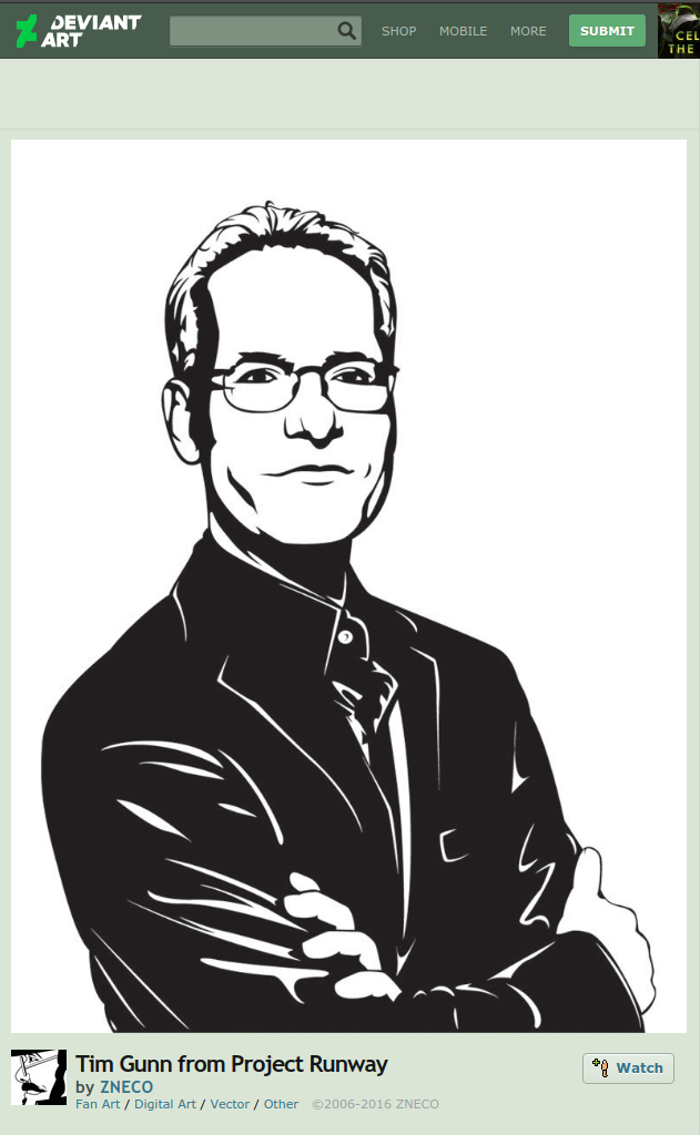 tim gunn fan art