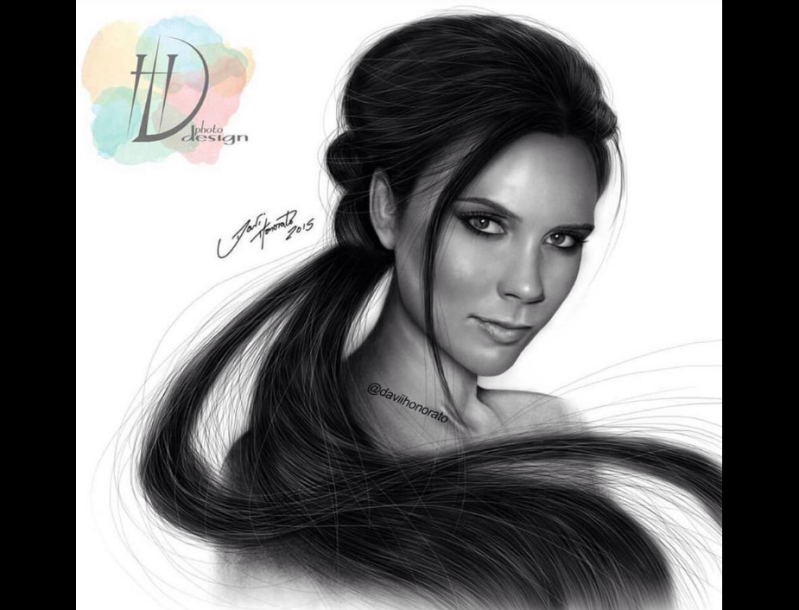 victoria beckham fan art