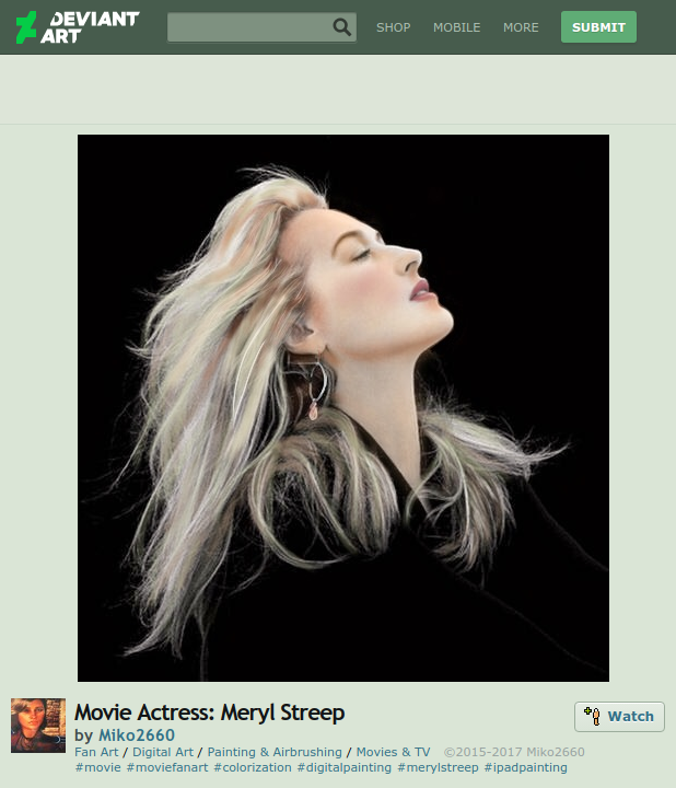 meryl streep fan art