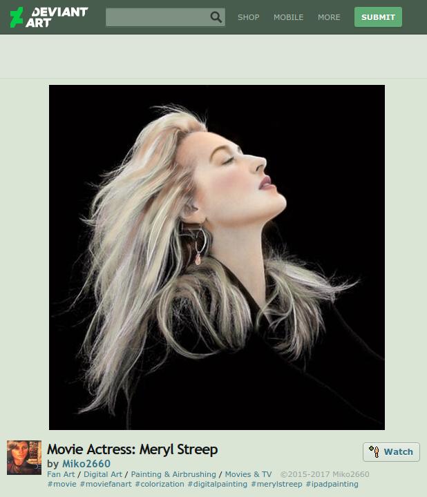 meryl streep fan art