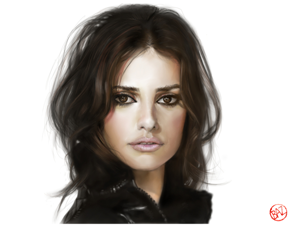 art by baz penelope cruz fan art