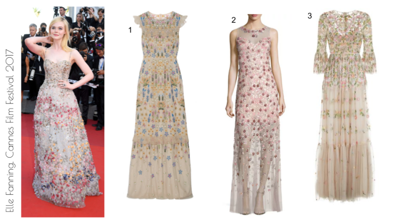 Elle Fanning, Cannes 2017 dior flowerbed gown
