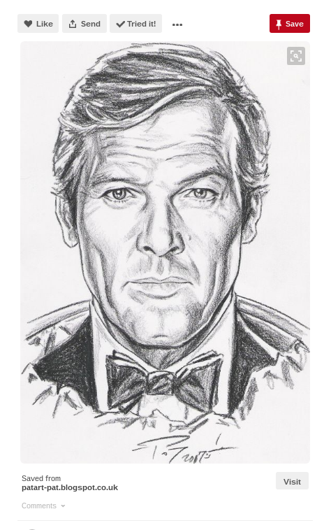 roger moore james bond fan art