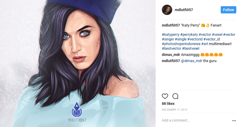 katy perry fan art