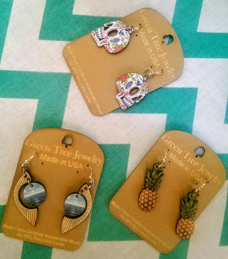 green tree jewelry eco friendly earrings