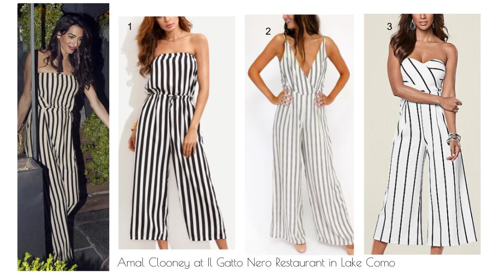 Wardrobe Wednesdays Amal Clooney At Il Gatto Nero Restaurant In Lake