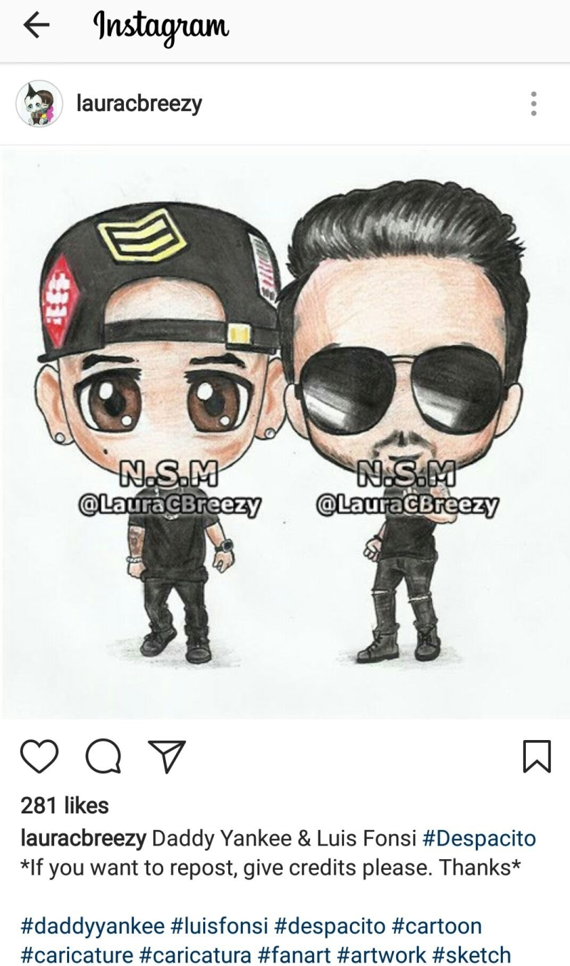 despacito daddy yankee and luis fonsi fan art
