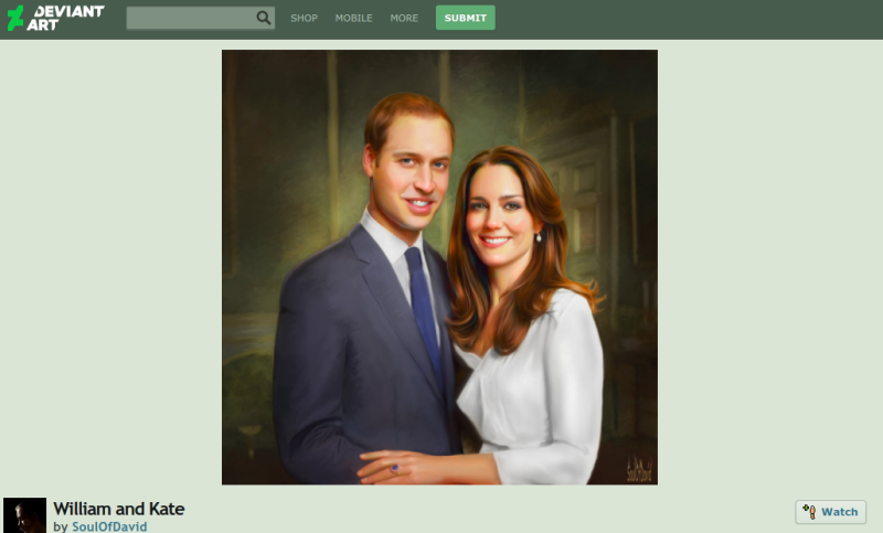 prince william kate middleton fan art