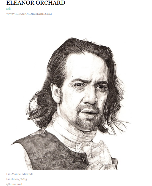 lin manuel miranda fan art