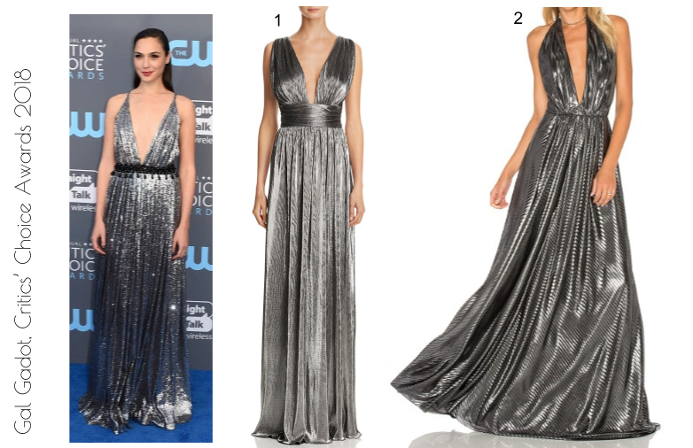Gal Gadot, red carpet fashion Critics Choice Awards 2018