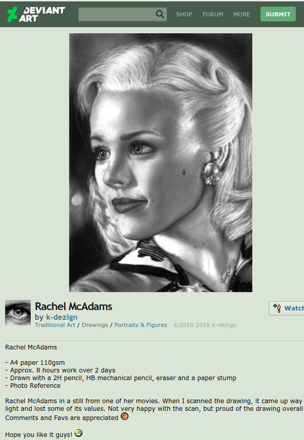 rachel mcadams fan art