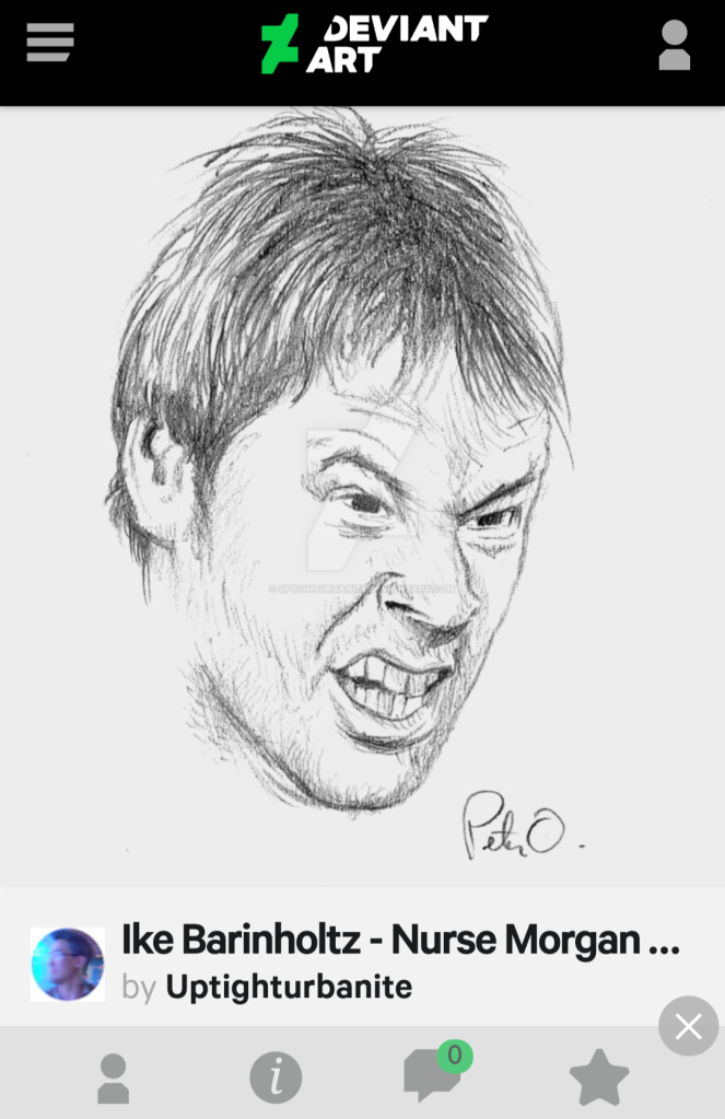 ike barinholtz fan art