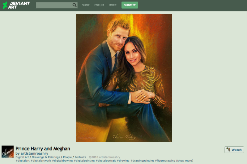 prince harry meghan markle fan art