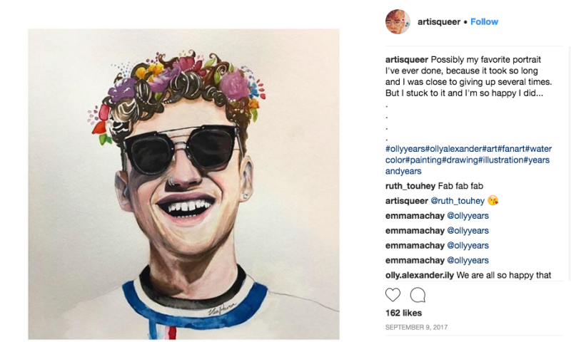 olly alexander fan art